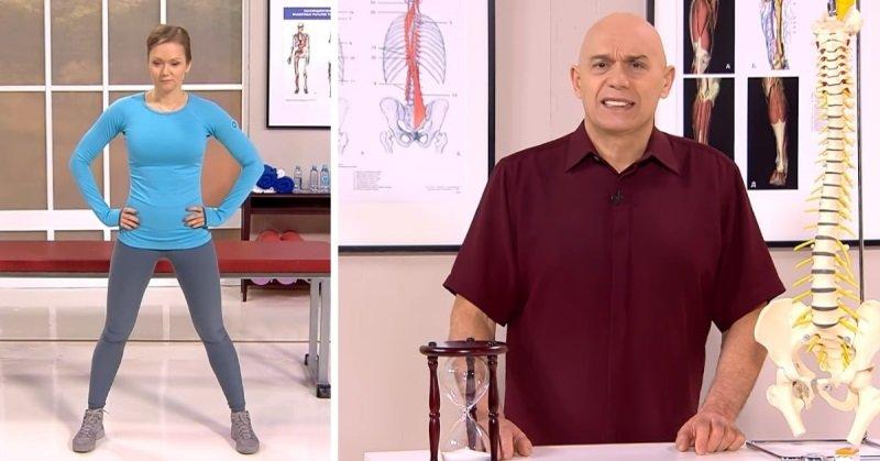 «Чтобы быстро снять боль в спине, не спеши пить таблетки. Встань, широко расставив ноги…» — советует знаменитый доктор Бубновский
