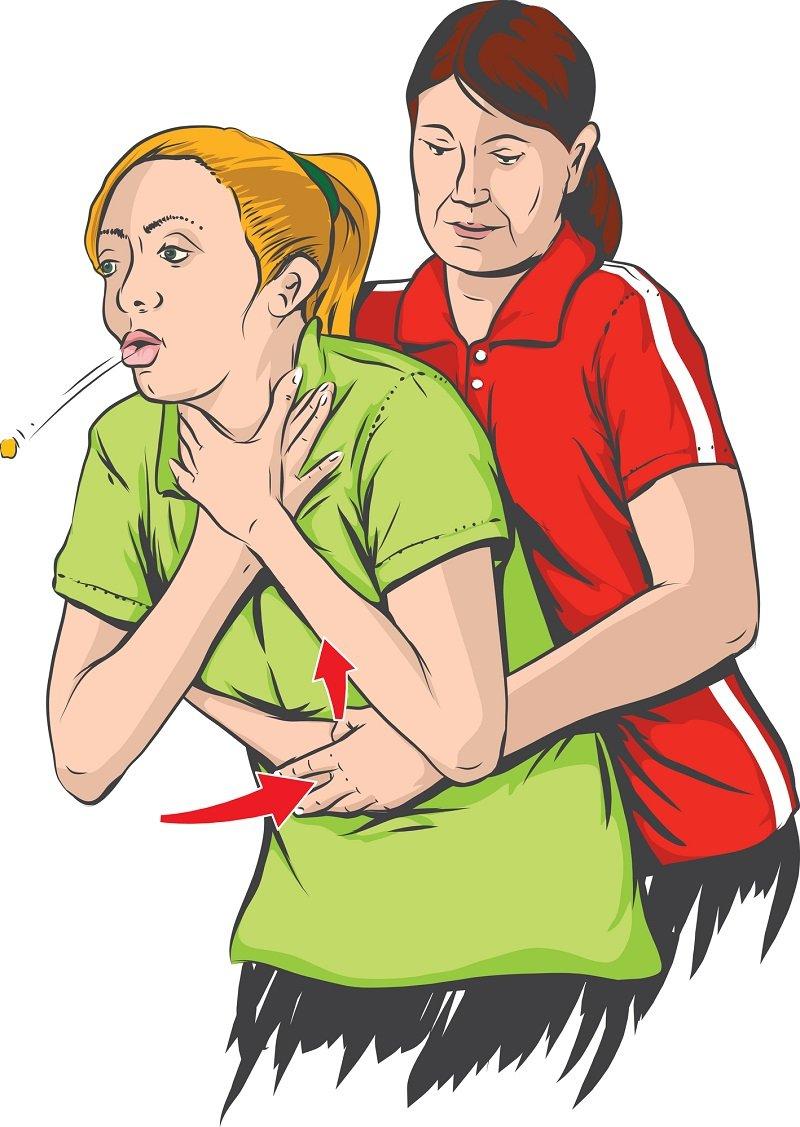 как действовать при удушении