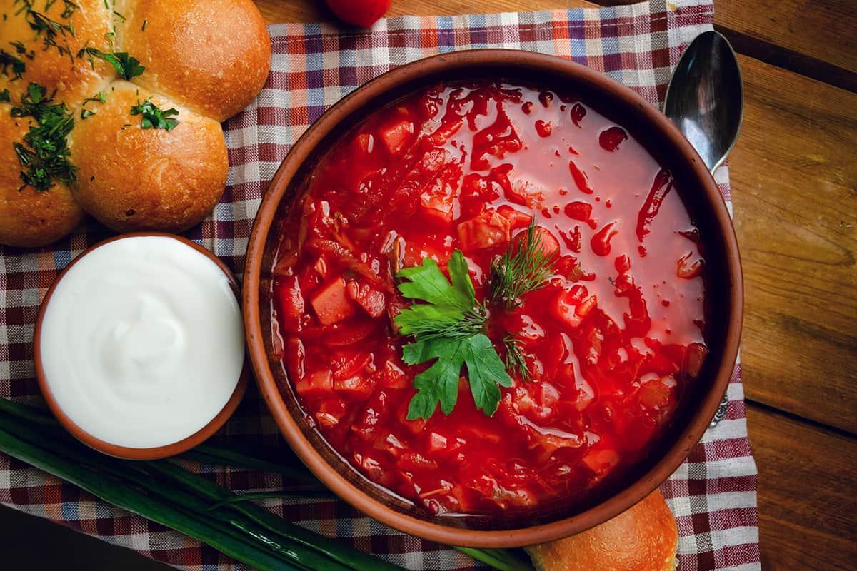 как готовить борщ красный
