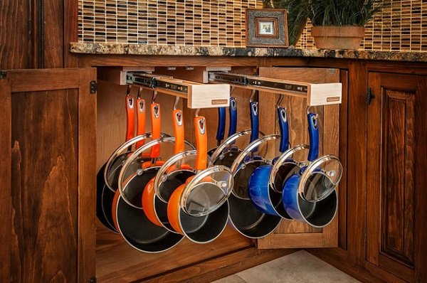 хранение сковородок