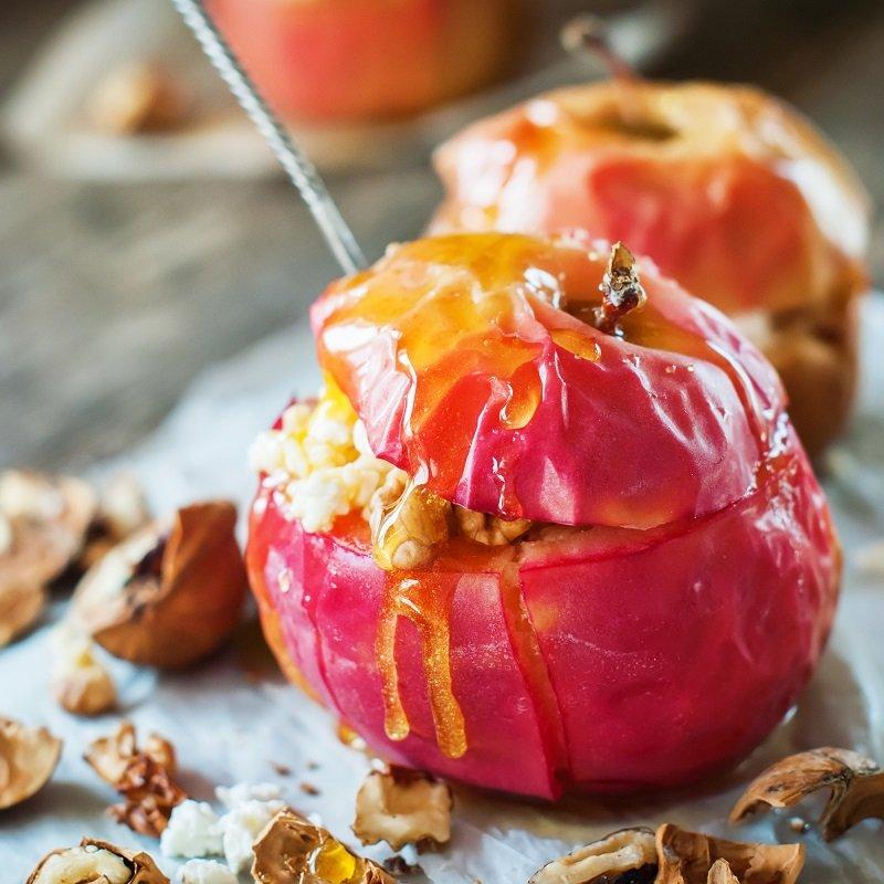 как запечь яблоки без начинки