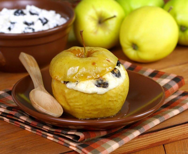 как запечь яблоки дома