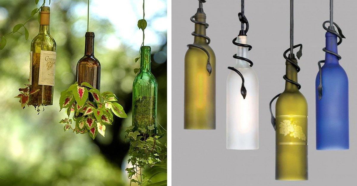 Увидев эти 20 очаровательных идей, ты перестанешь выбрасывать бутылки из-под вина!
