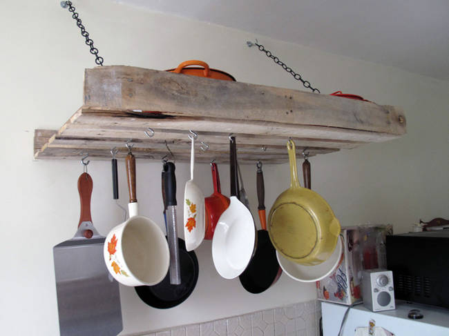 деревянная подвесная подставка