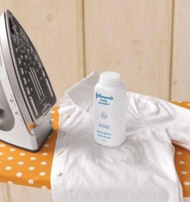 белая рубашка и присыпка