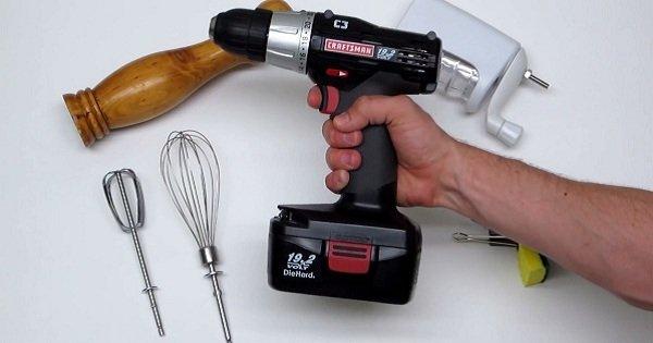 6 неординарных способов использовать дрель на кухне. Просто замечательная вещь!