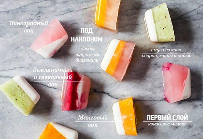 замороженный фруктовый лед