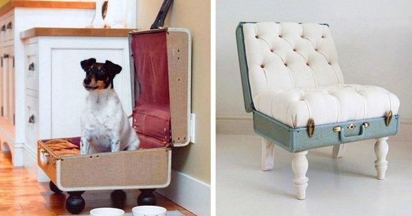 Необязательно быть дизайнером, чтобы сотворить такое! 10 идей для создания чуда из чемодана.
