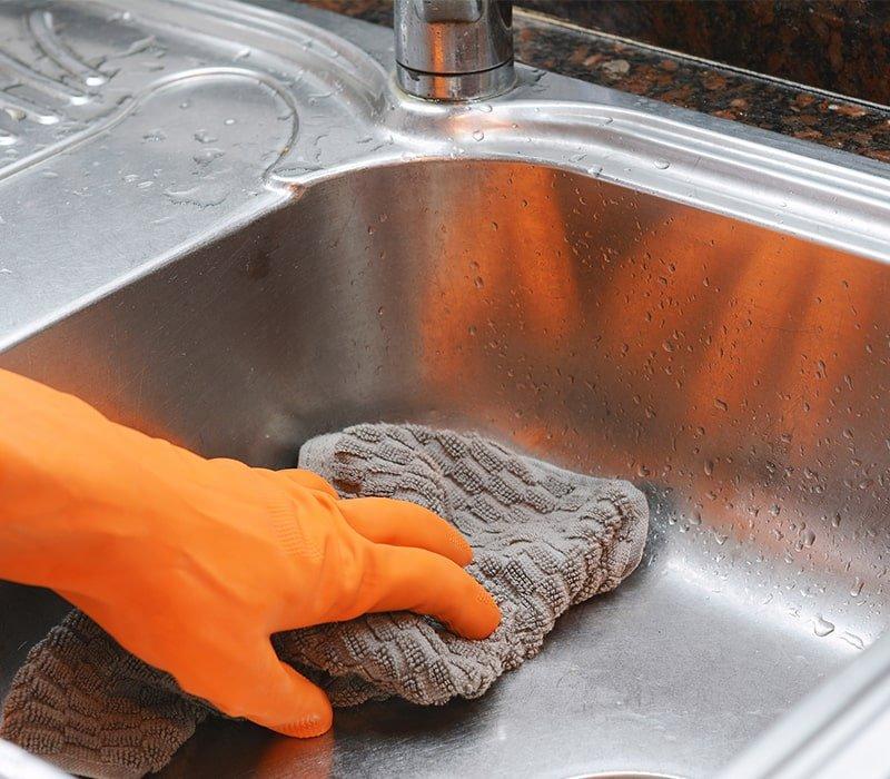 Зачем посыпать мукой кухонную раковину Советы,Дом,Идеи,Кухня,Лайфхаки,Мука,Раковина,Уборка,Чистота