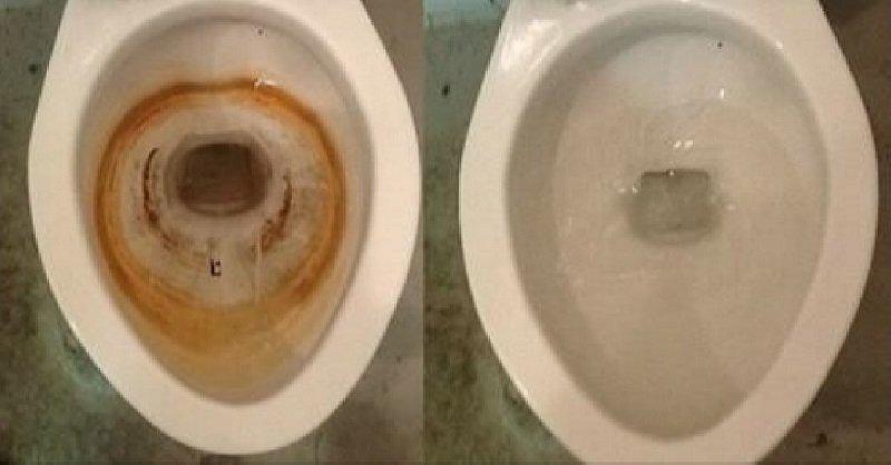 чем отмыть ржавчину в унитазе в домашних условиях