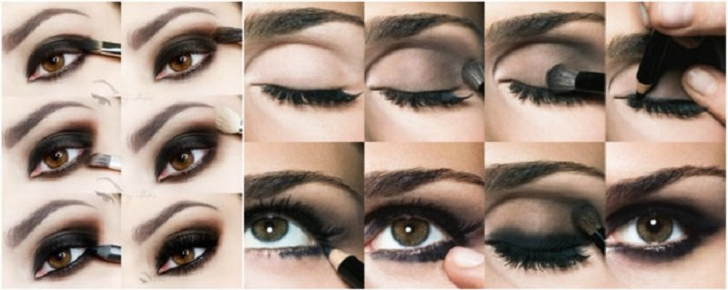 как красиво накрасить глаза
