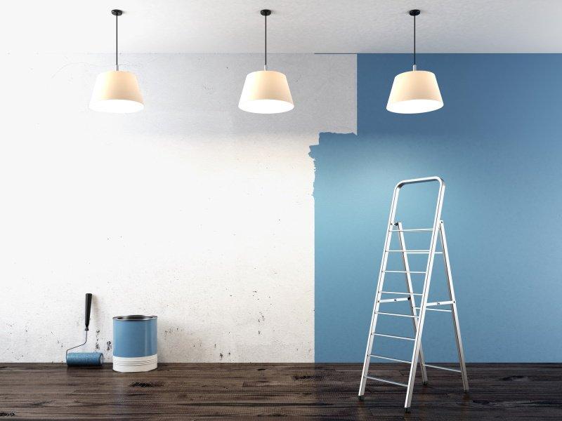 как красить стены без разводов