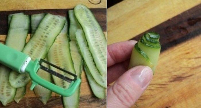 как красиво нарезать овощи ножом