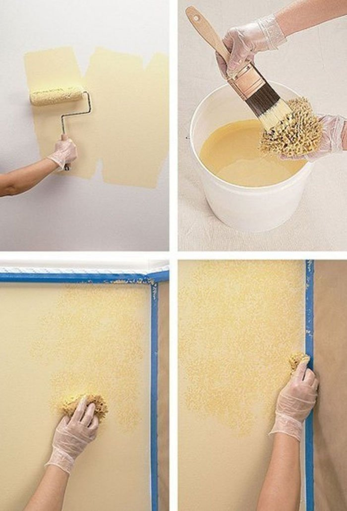 покраска стен разными цветами