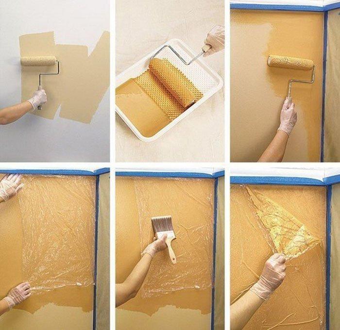 Необычная покраска стен своими руками 41