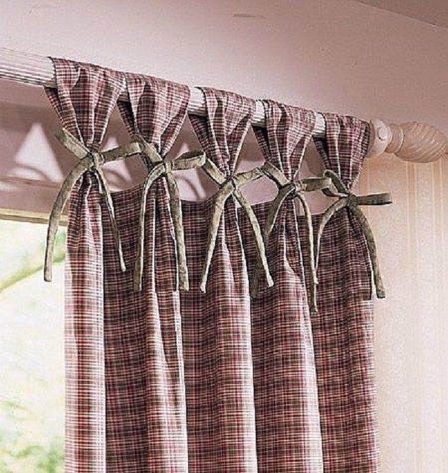 как повесить шторы на карниз без колец