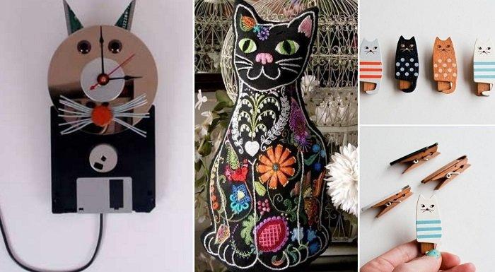 как украсить дом в кошачьей тематике