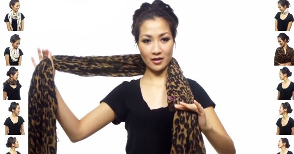 25 необычных способов завязать платок. Преобрази свой наряд за считаные секунды!
