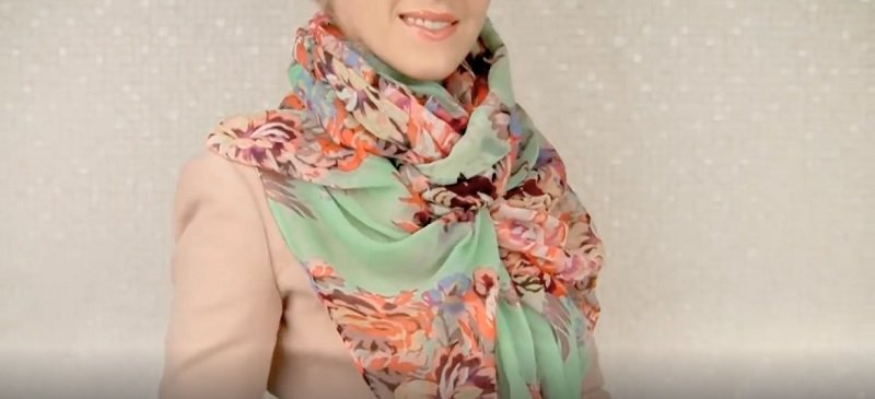 как завязать шарф или платок