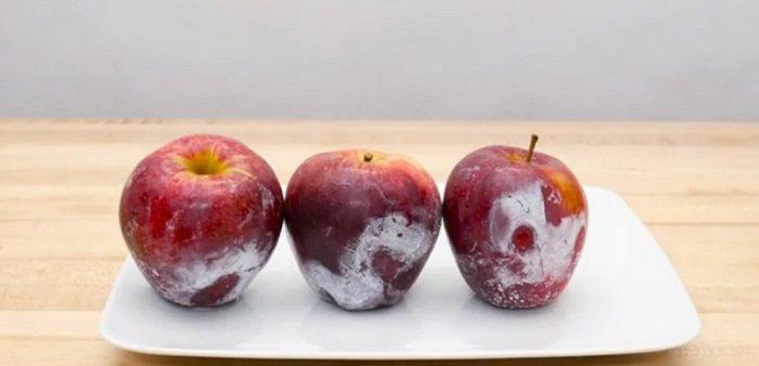 как мыть яблоки от воска