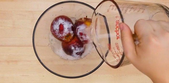 чем мыть обработанные яблоки