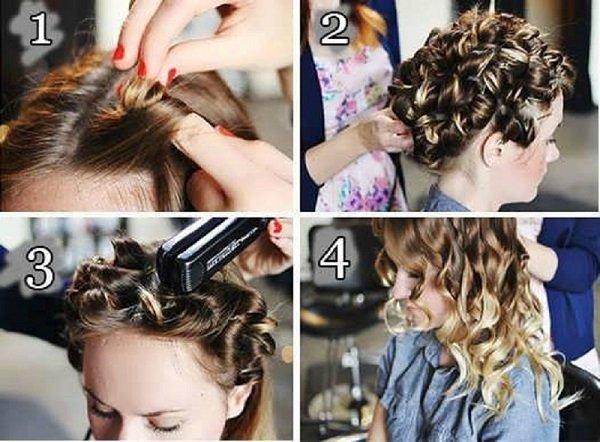 как накрутить волосы утюжком для выпрямления