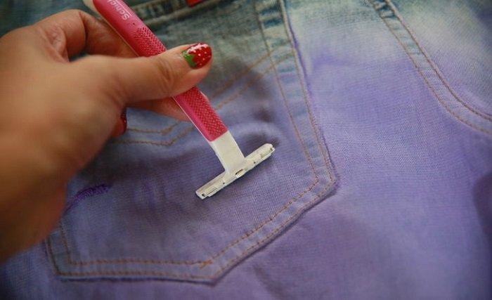 бритва и джинсы