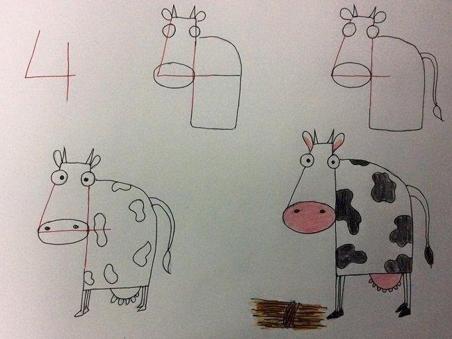 рисуем корову