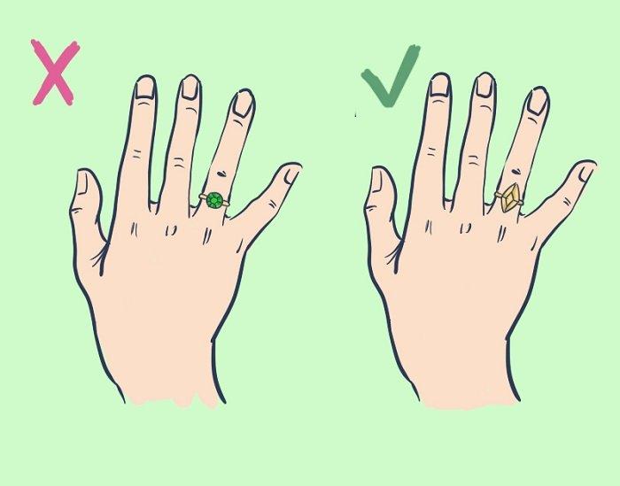 правила ношения колец на руках