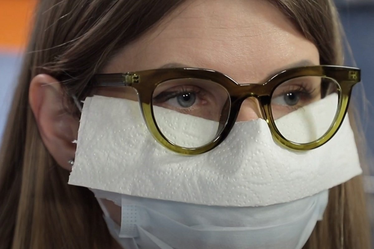 Как носить маску c очками