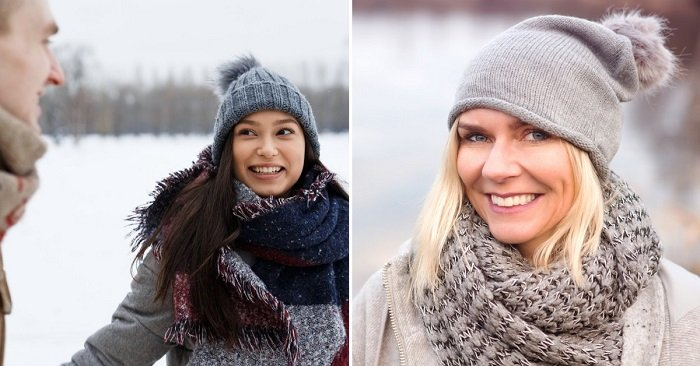 шарфы зимой