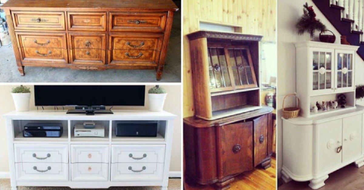 Своими руками новый дизайн старой мебели 53