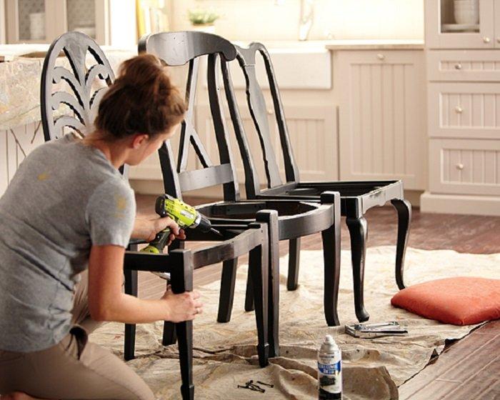 как красиво переделать стул