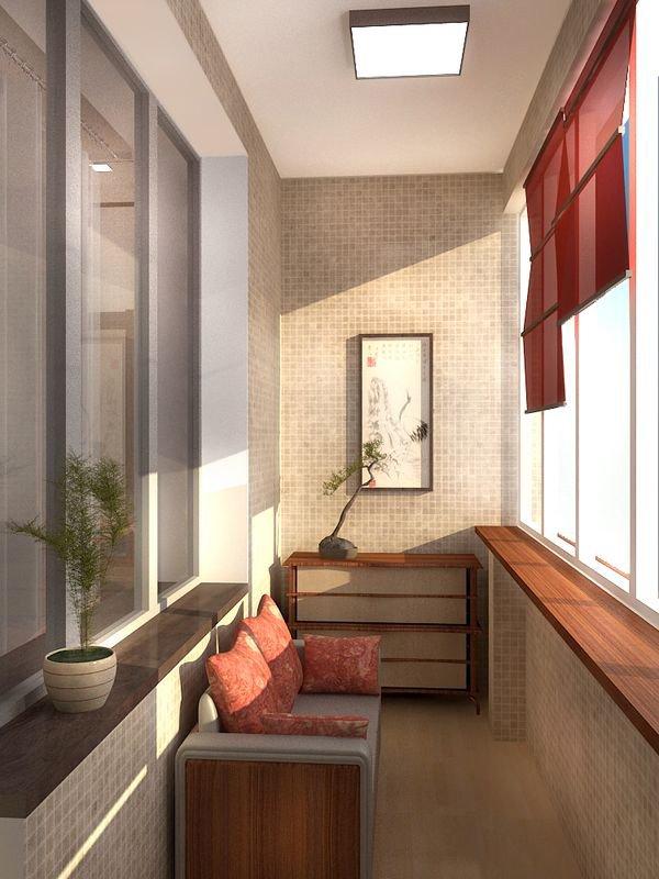 Обустройство узкого балкона