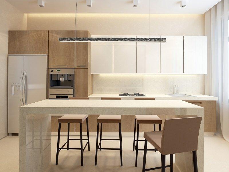 как обустроить кухню с гостиной