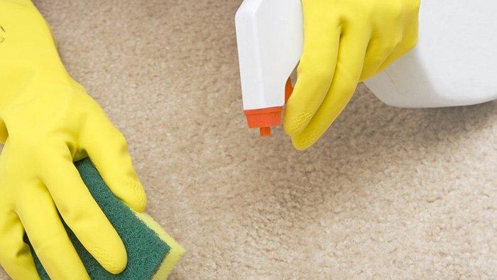 как почистить ковер от шерсти