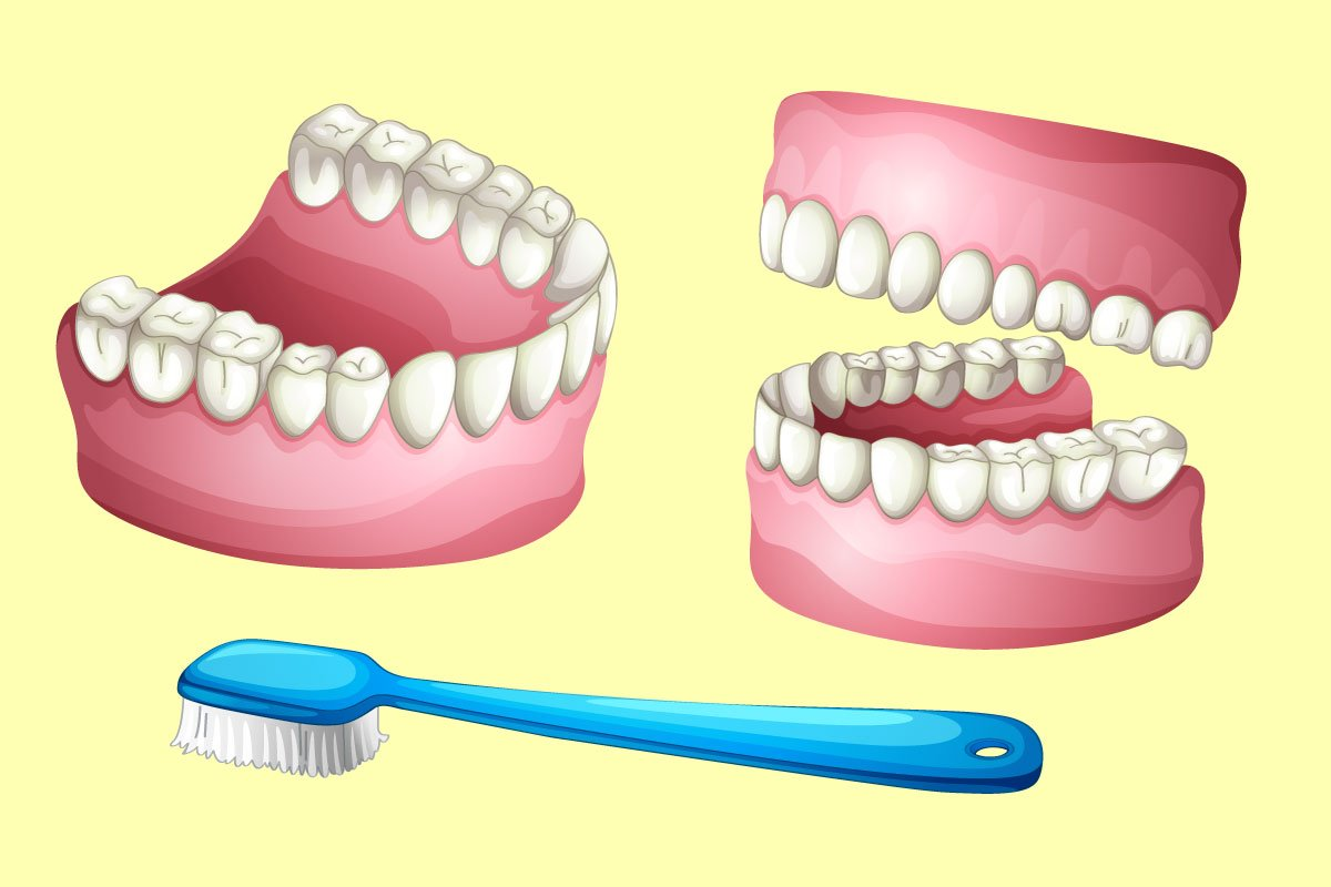 как быстро почистить зубные протезы