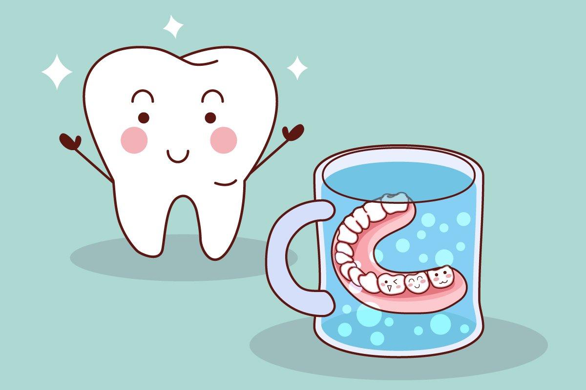 как почистить нейлоновый зубной протез