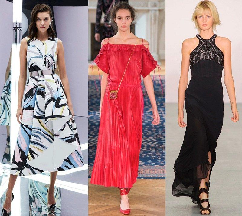 Стильные летние платья 2017