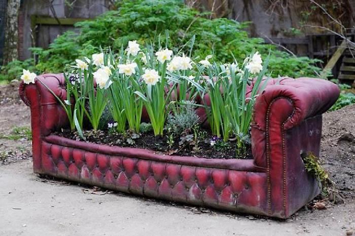 как оформить клумбу с цветами