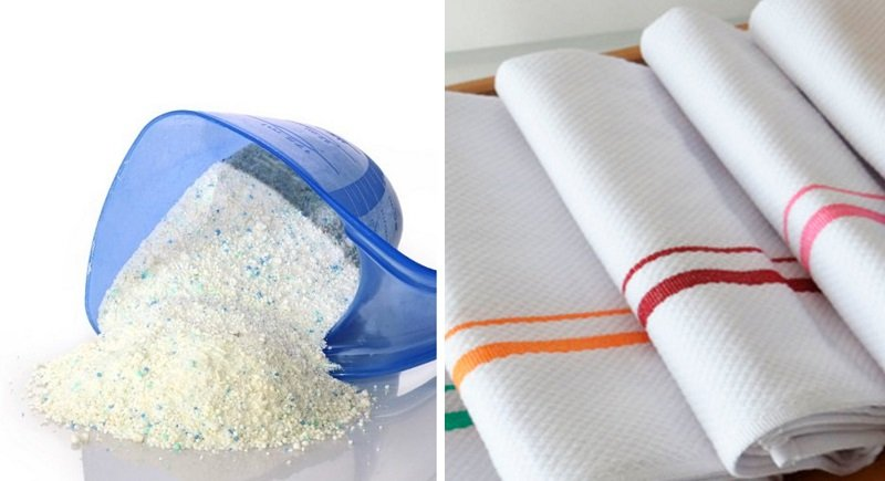 Средство, после которого кухонные полотенца будут блистать белизной без кипячения