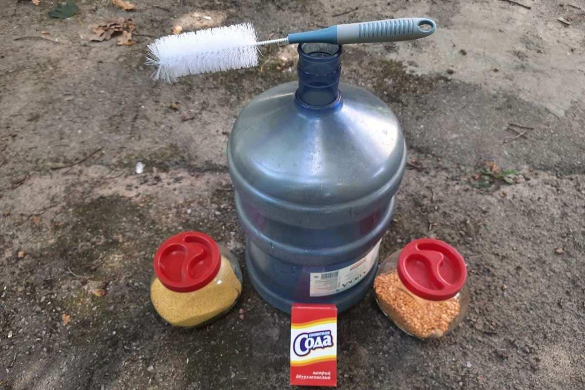 как отмыть бутыль