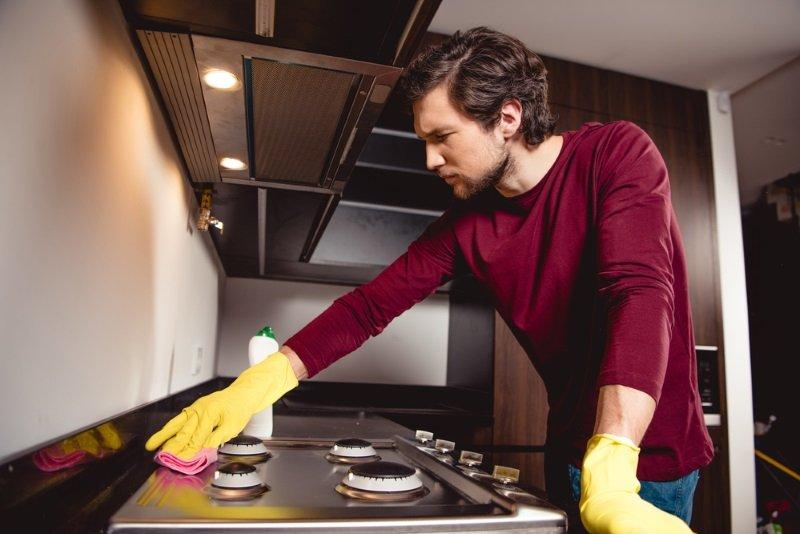 как отмыть плиту быстро