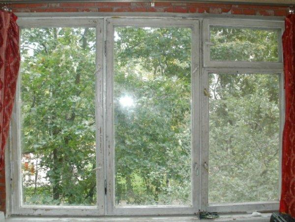 staré drevené okná