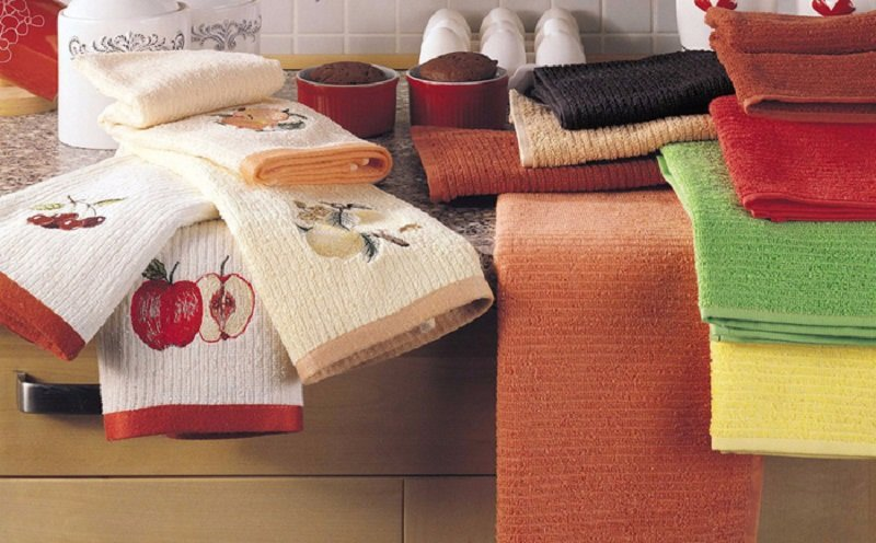 как отстирать кухонные полотенца