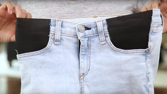 как переделать джинсы в юбку
