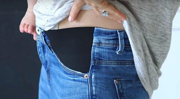 как переделать джинсы для беременных в обычные