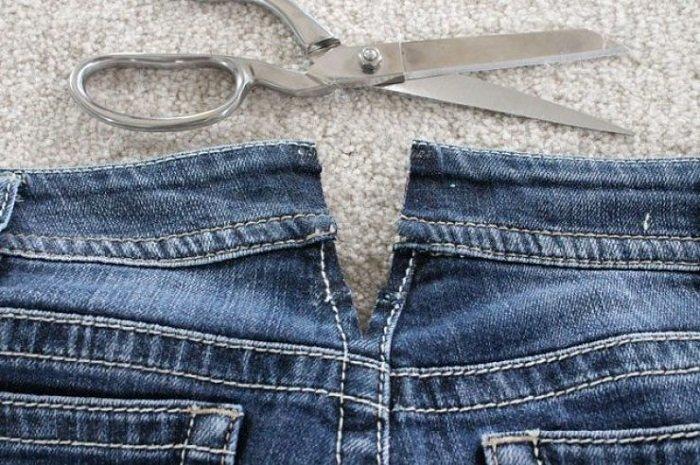 как переделать испорченные джинсы