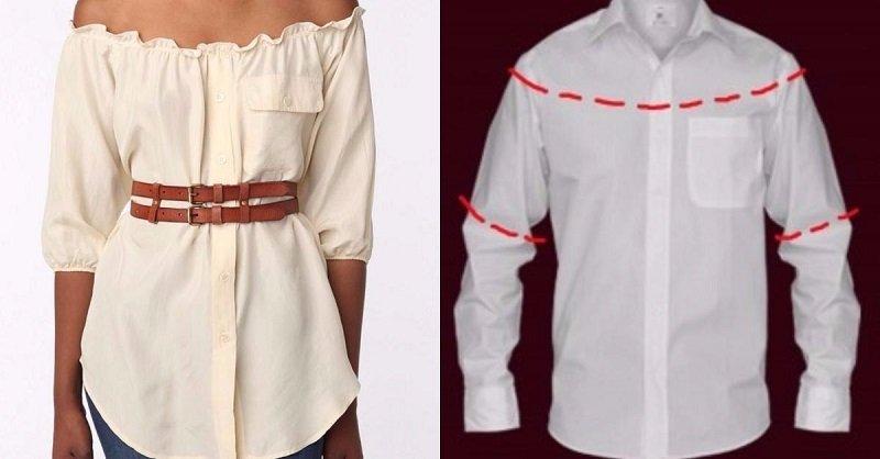 Что можно сшить из рубашки мужа для себя 852