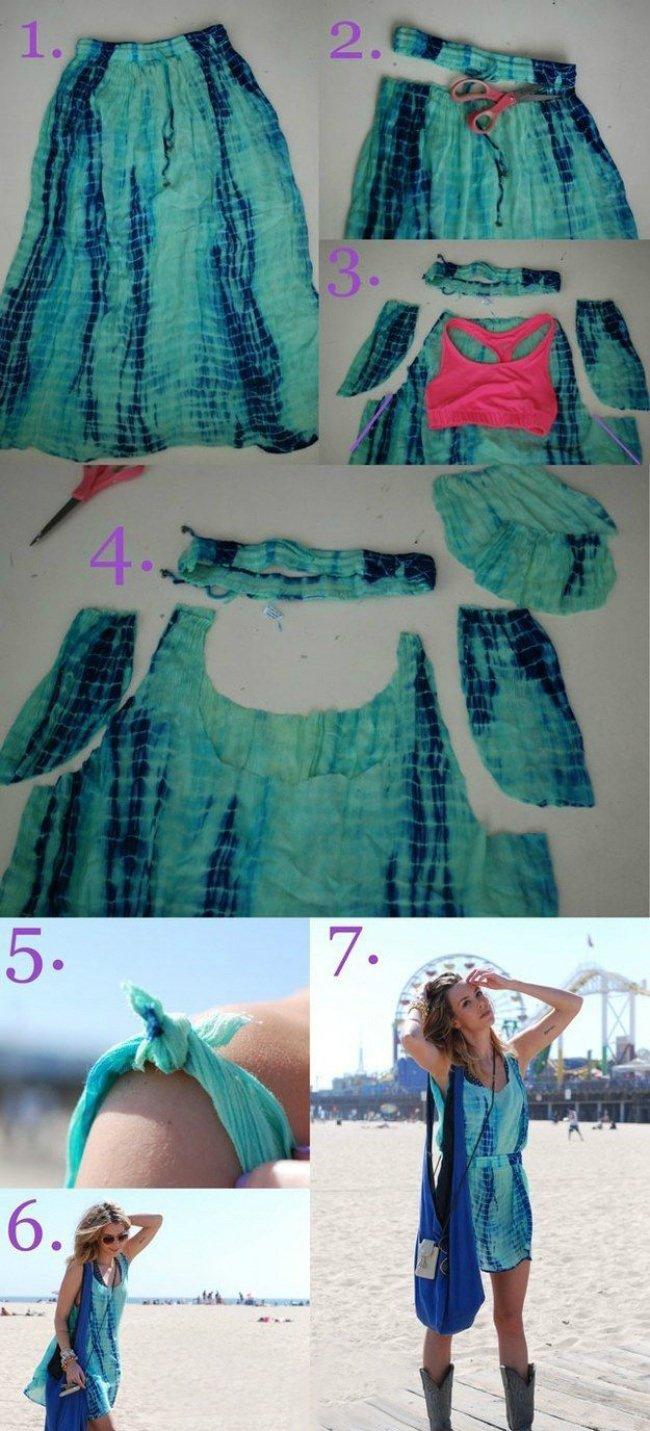 платье из юбки